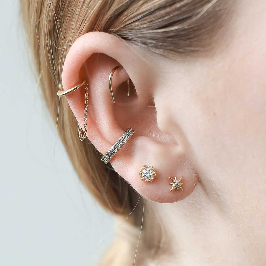 Classic Chain Ear Cuff at Maison Miru Jewelry @maisonmiru