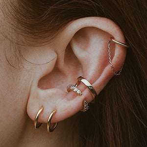 Crystal Claw Ear Cuff on model