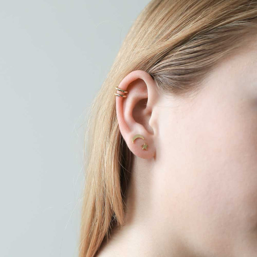 Classic Ear Cuff in Silver at Maison Miru Jewelry @maisonmiru