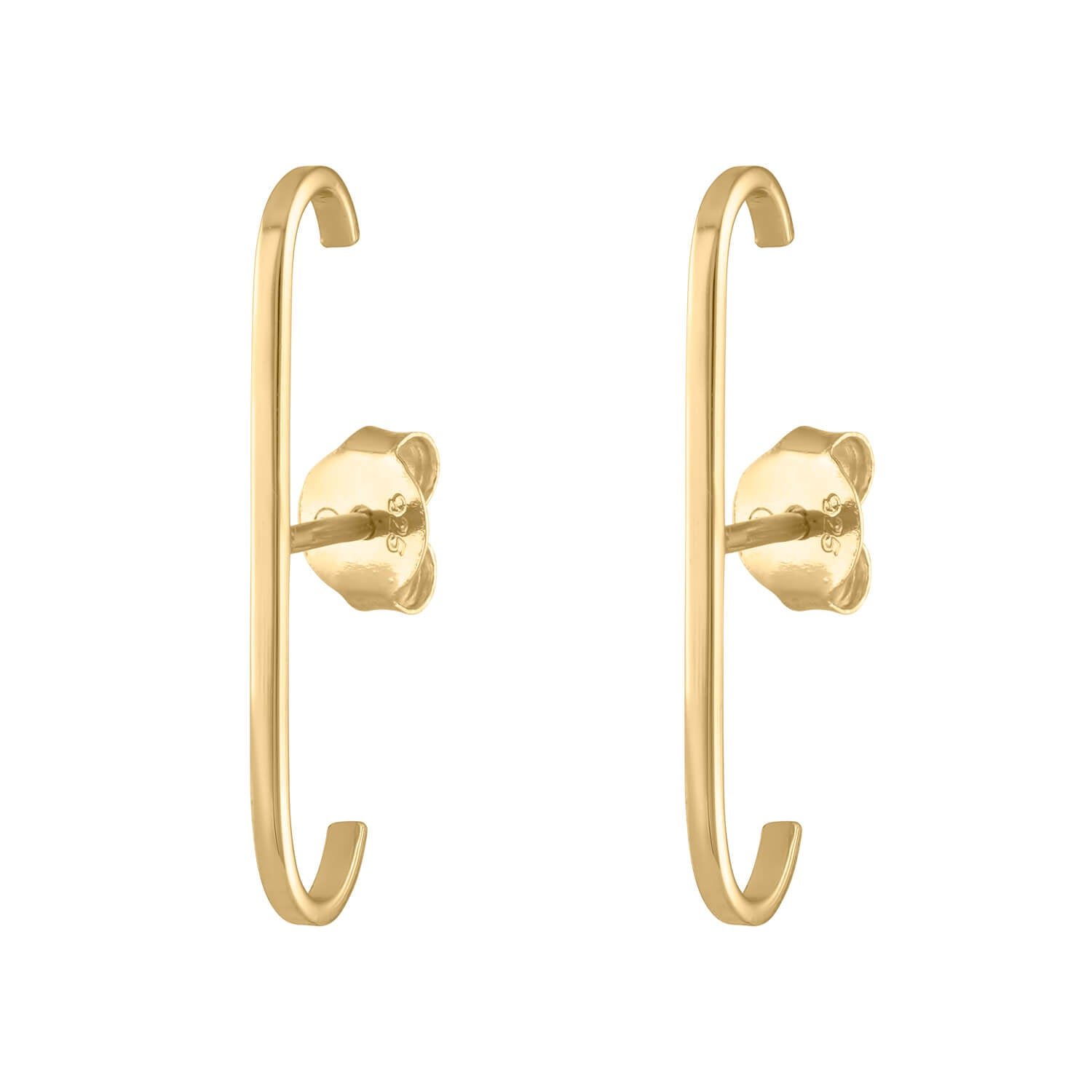 Classic Suspender Earrings in Gold Vermeil