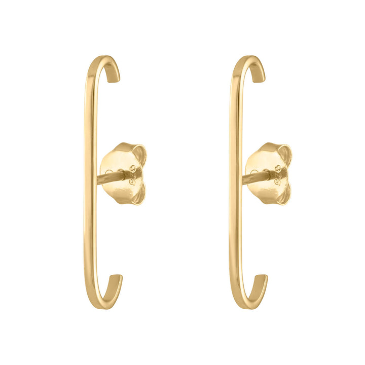 Classic Suspender Earrings in Gold Vermeil at Maison Miru Jewelry @maisonmiru