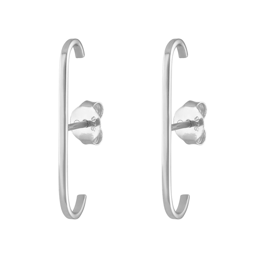 Classic Suspender Earrings in Sterling Silver