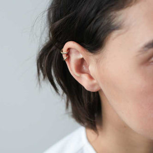 Classic Ear Cuff in Gold on model