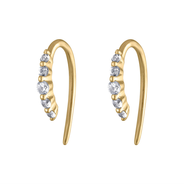 Comet Huggie Earrings in 14K Gold