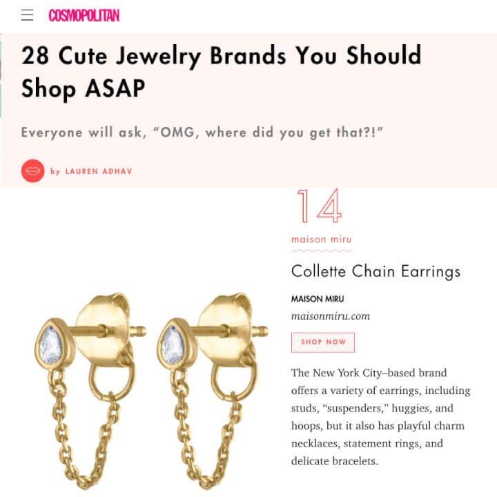 Colette Chain Earrings in Cosmopolitan