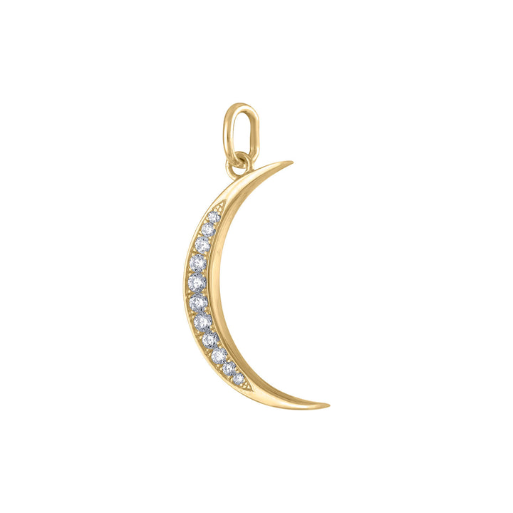Pave Moon Charm in Gold Vermeil