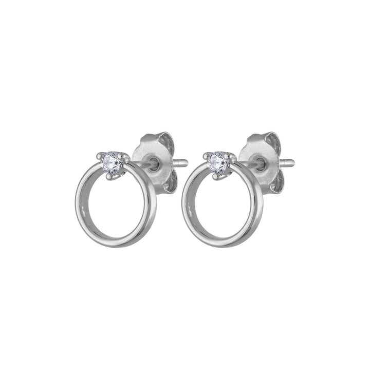 Crystal Orbit Studs in Sterling Silver