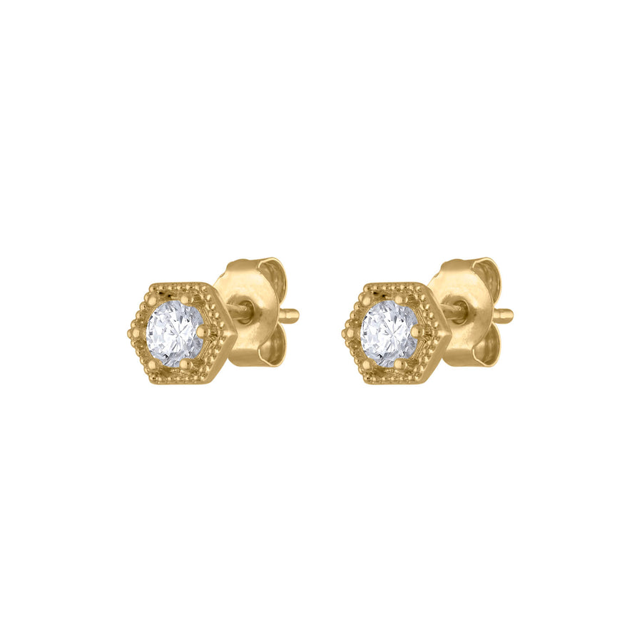 Deco Crystal Studs at Maison Miru Jewelry @maisonmiru