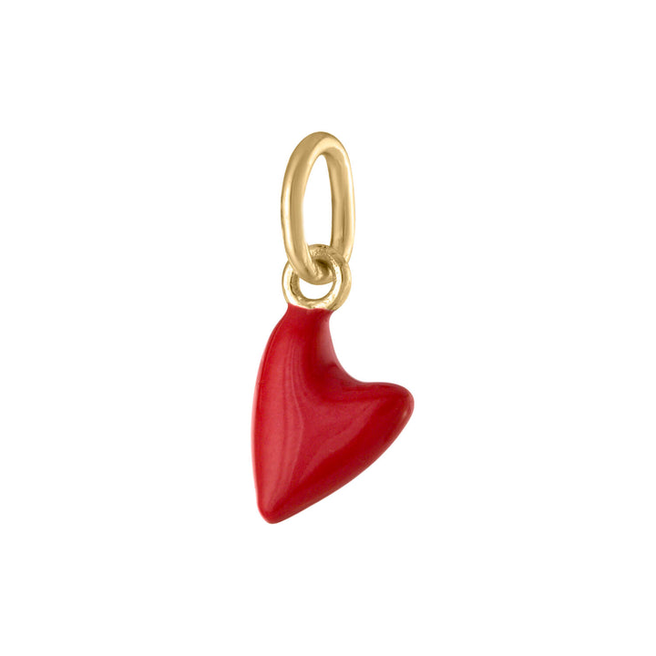 Itty Bitty Red Heart in Gold Vermeil at Maison Miru Jewelry @maisonmiru
