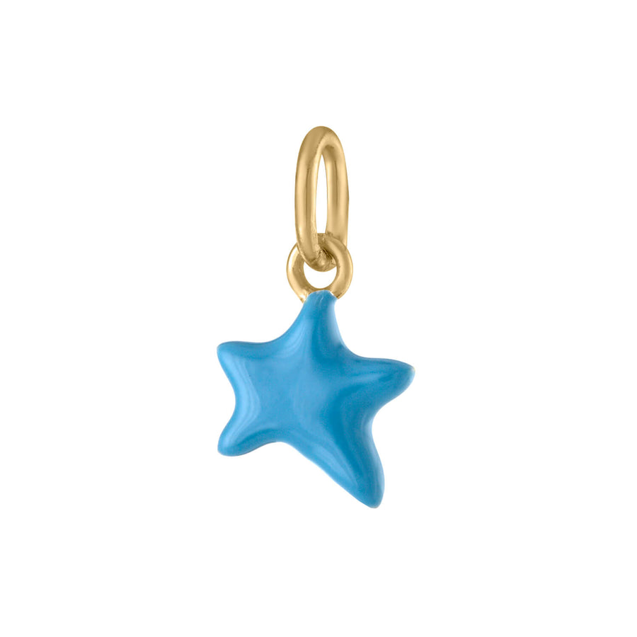 Itty Bitty Turquoise Wishing Star in Gold Vermeil