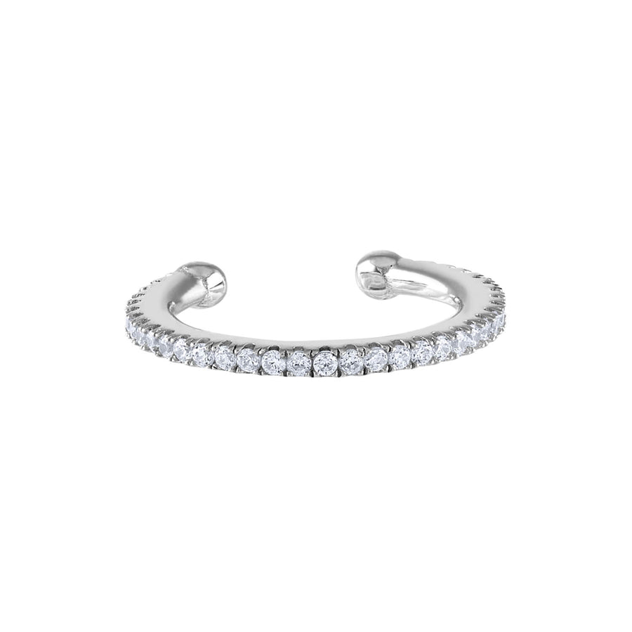Eternity Arc Ear Cuff in Sterling Silver (16mm)