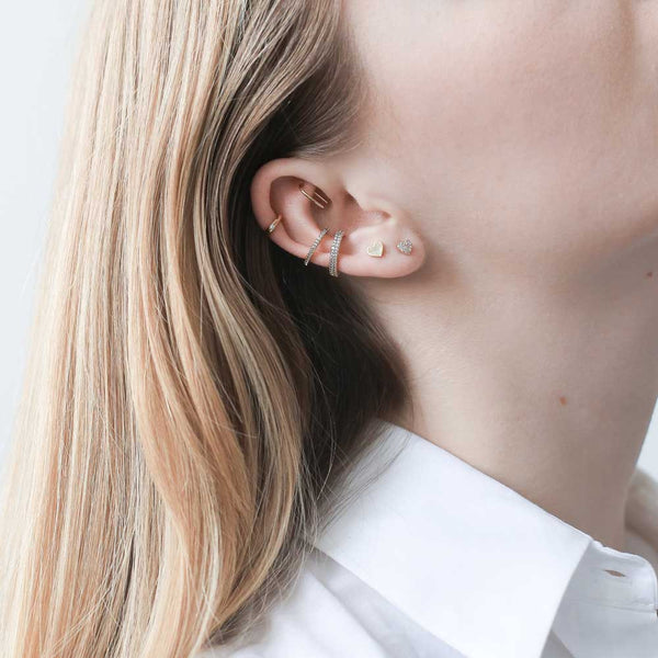 Pave Heart Studs - our golden tiny pave heart stud earrings - Maison Miru Jewelry (@maisonmiru)
