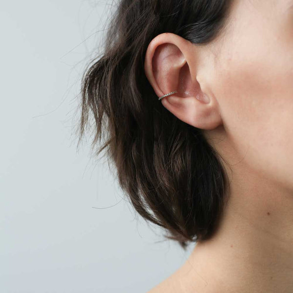Eternity Ear Cuff - a glamorous row of crystals to make your ear sparkle - Maison Miru Jewelry (@maisonmiru)
