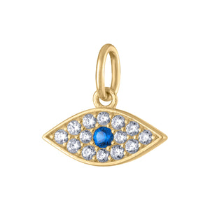 Evil Eye Charm in Gold Vermeil at Maison Miru Jewelry @maisonmiru