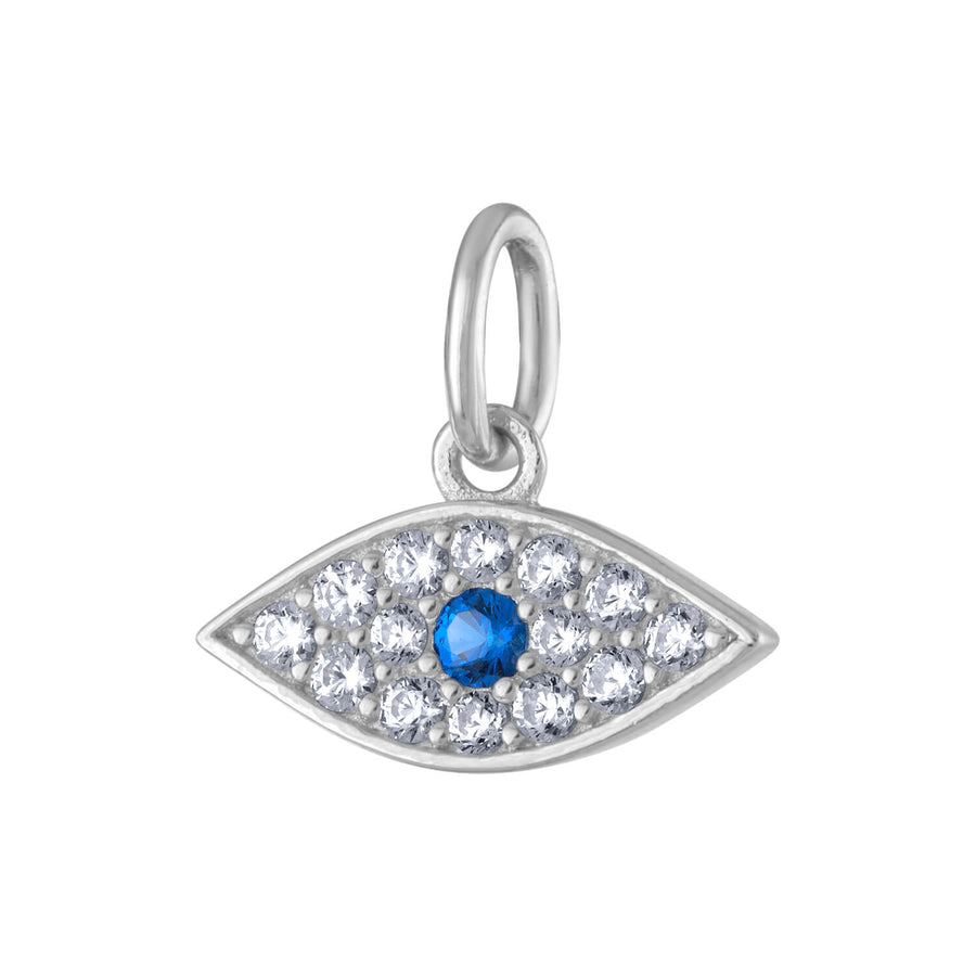 Evil Eye Charm in Sterling Silver