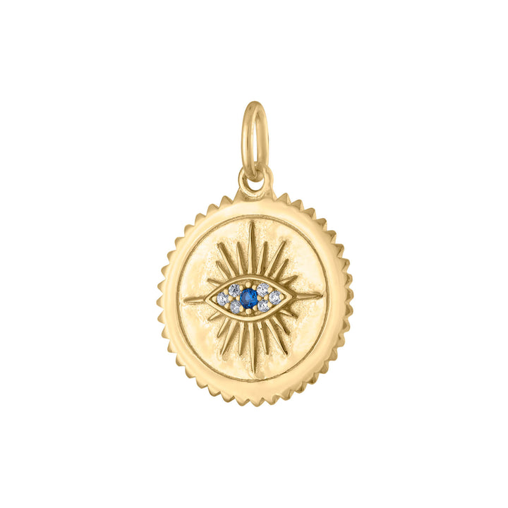 Evil Eye Medallion in Gold Vermeil at Maison Miru Jewelry @maisonmiru