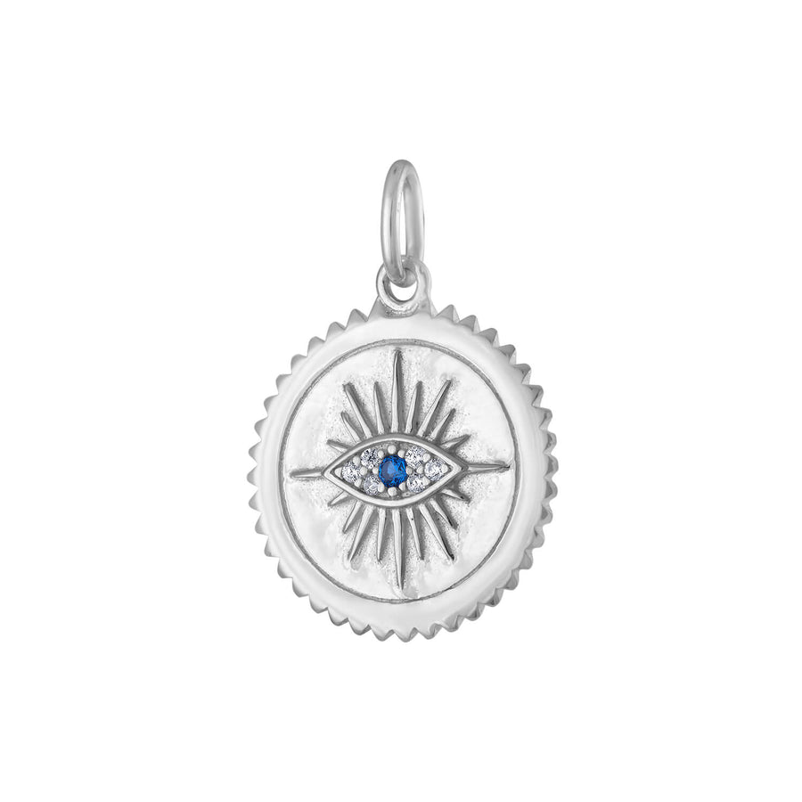 Evil Eye Medallion in Sterling Silver