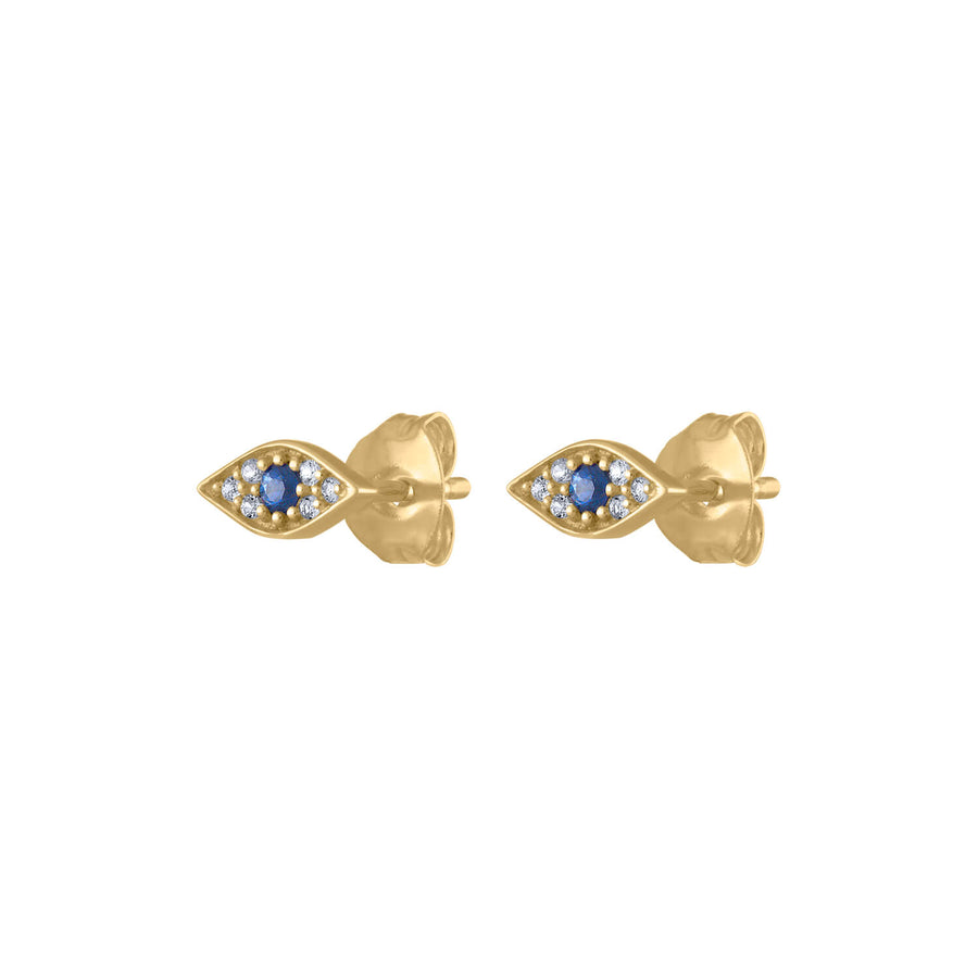 Evil Eye Studs in 14k Gold