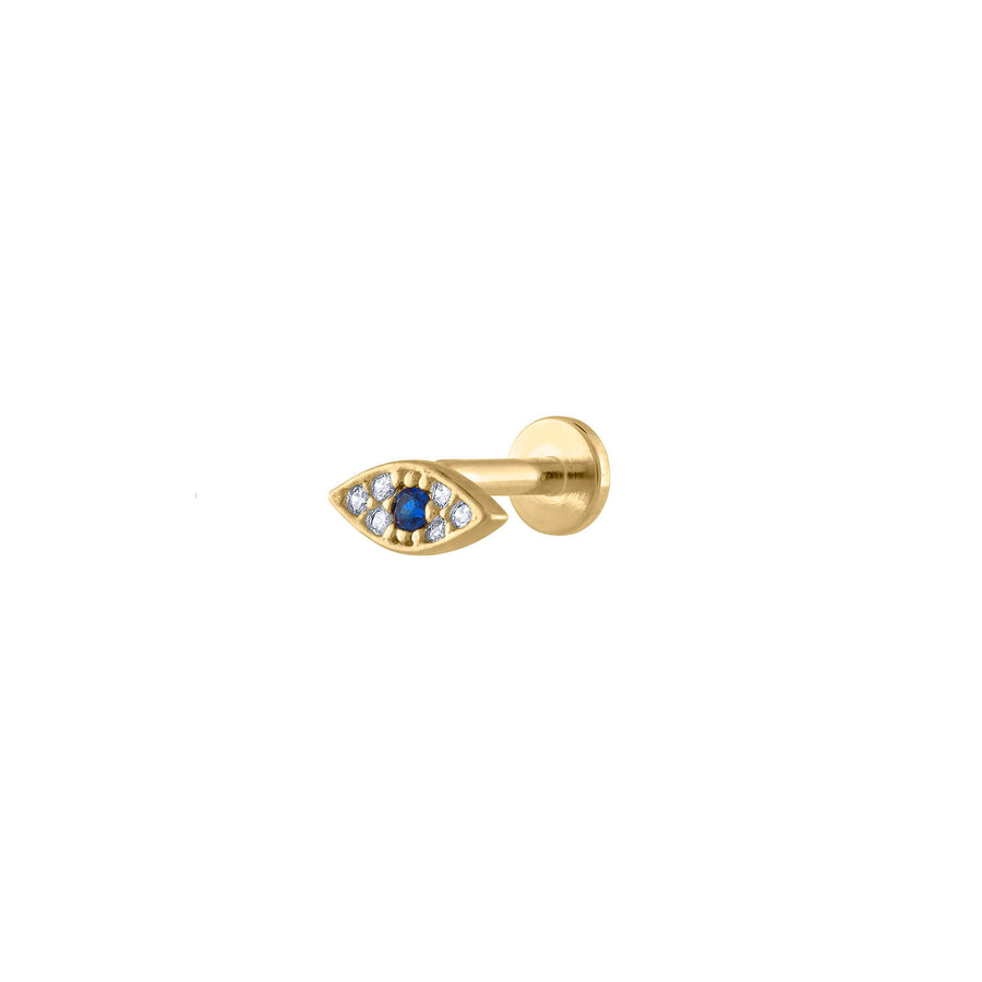 Evil Eye Threaded Flat Back Earring