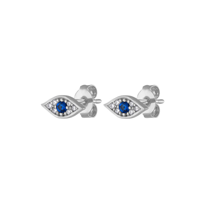 Evil Eye Studs in Sterling Silver at Maison Miru Jewelry @maisonmiru