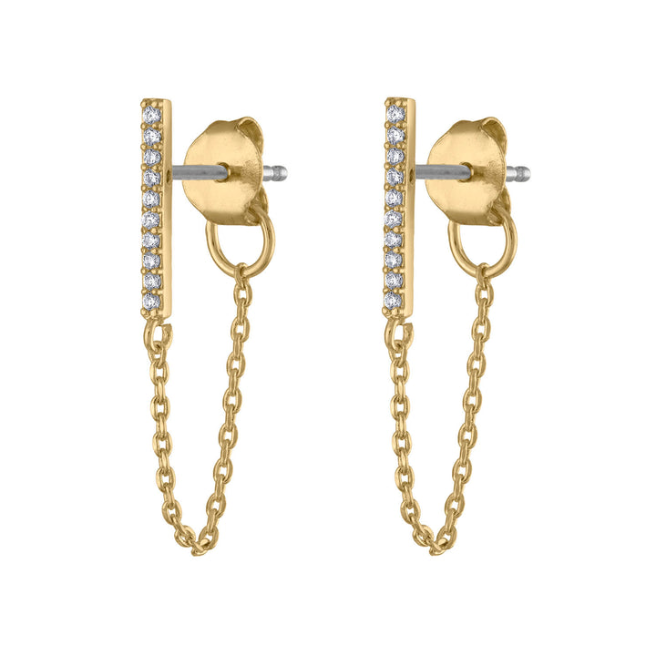 Falling Star Crystal Chain Earrings at Maison Miru Jewelry @maisonmiru