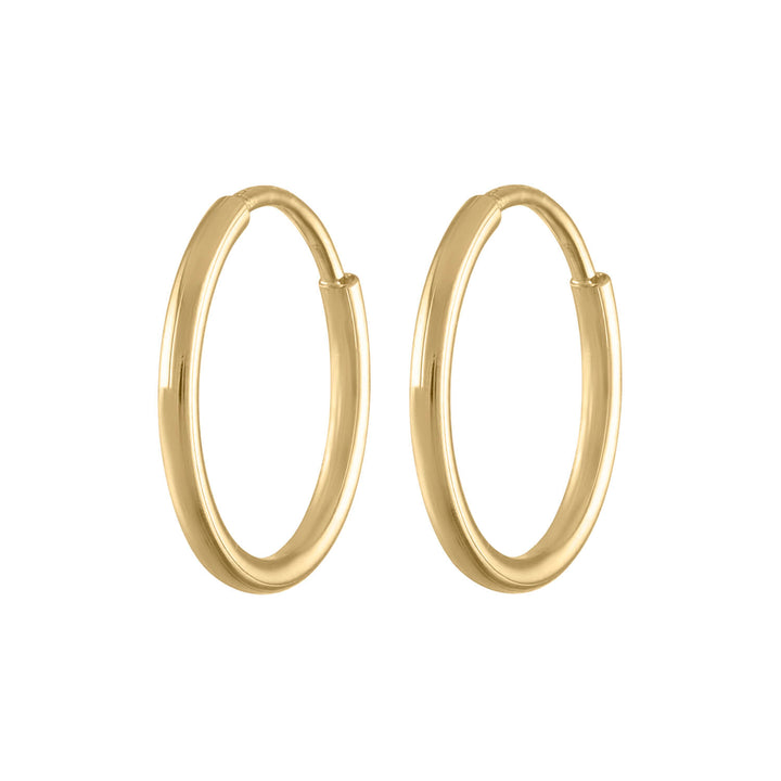 Mini Forever Hoops in 14k Gold at Maison Miru Jewelry @maisonmiru