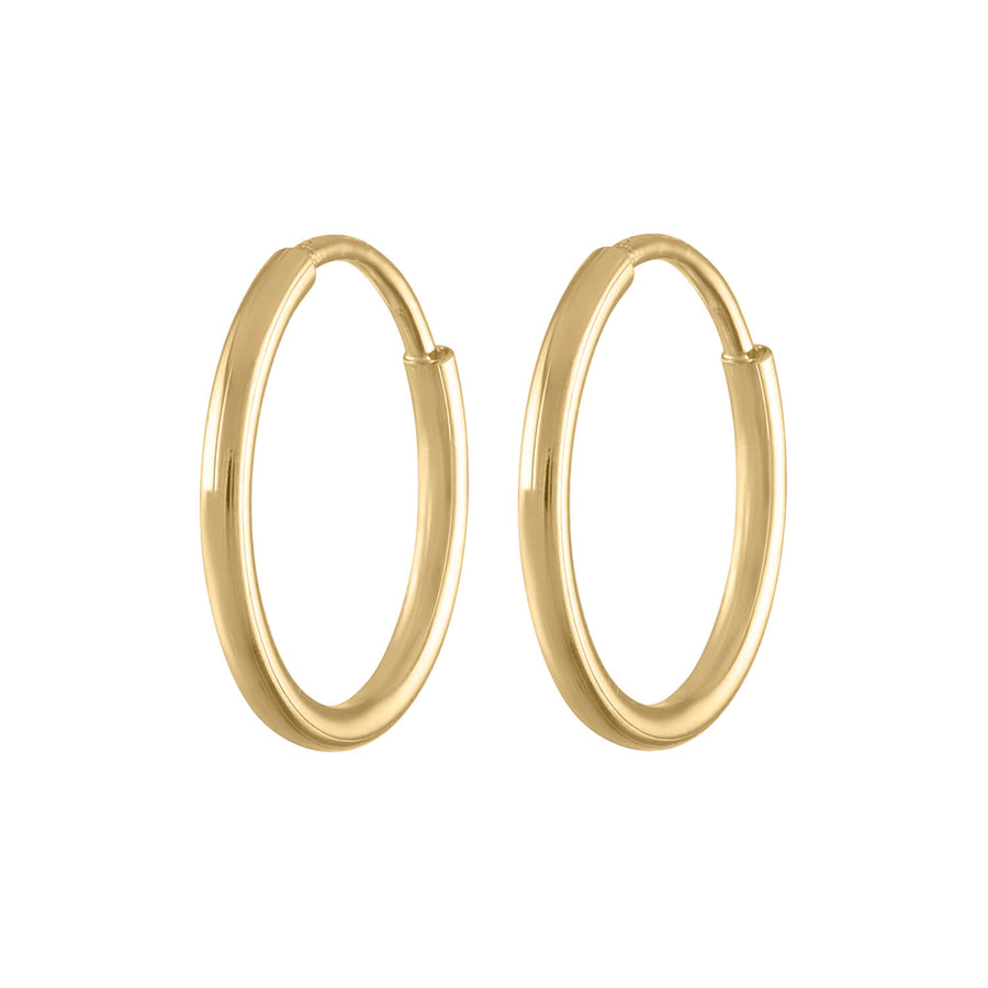 Mini Forever Hoops in 14k Gold