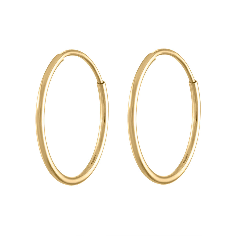 Forever Hoops in 14k Gold at Maison Miru Jewelry @maisonmiru