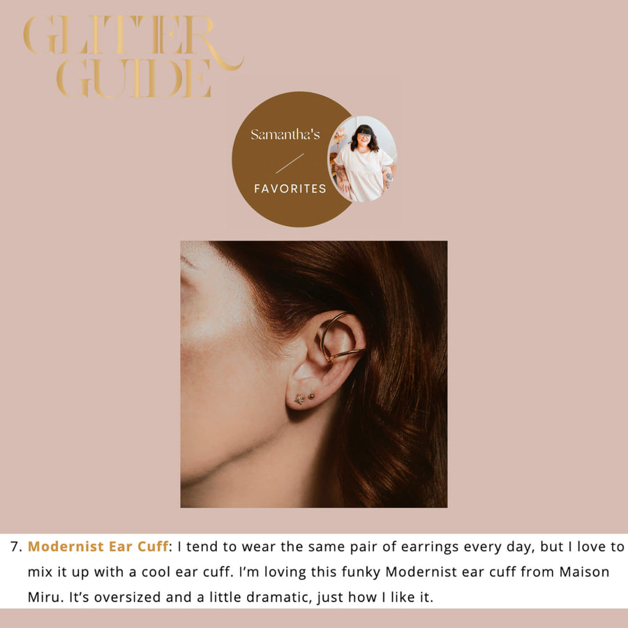 Modernist Ear Cuff As Seen on Glitter Guide