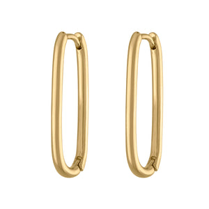 Halo Oval Hoop Earrings