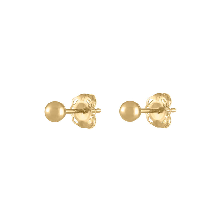 Hollow Sphere Studs in 14k Gold