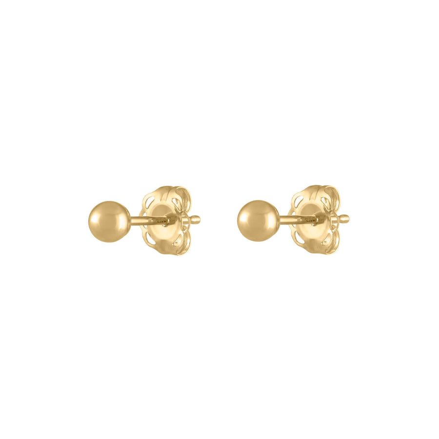 Hollow Sphere Studs at Maison Miru Jewelry @maisonmiru