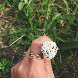 Anja Ring - our delicate open ring with twin inset crystals - Maison Miru Jewelry (@maisonmiru)