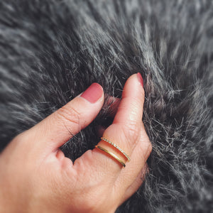 Juliet Ring in Sterling Silver on model