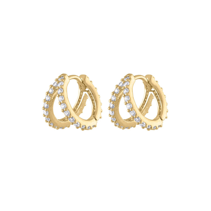 Infinite Huggie Earrings at Maison Miru Jewelry @maisonmiru