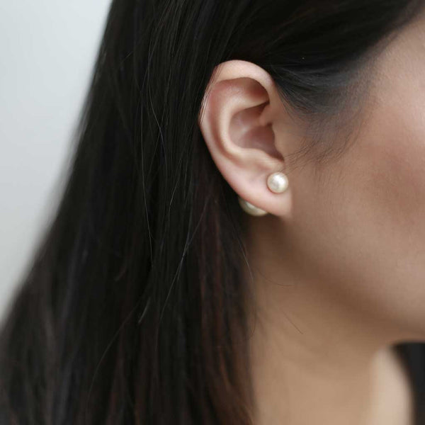 Isabelle Pearl Earrings - our top quality haute designer-style double pearl earring - Maison Miru Jewelry (@maisonmiru)