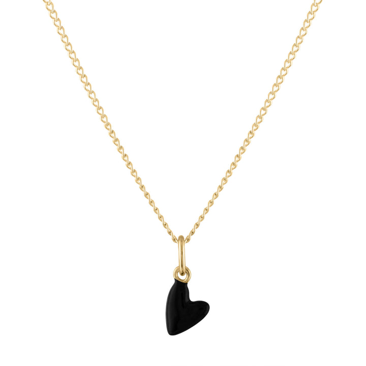 Black Heart Charm Necklace