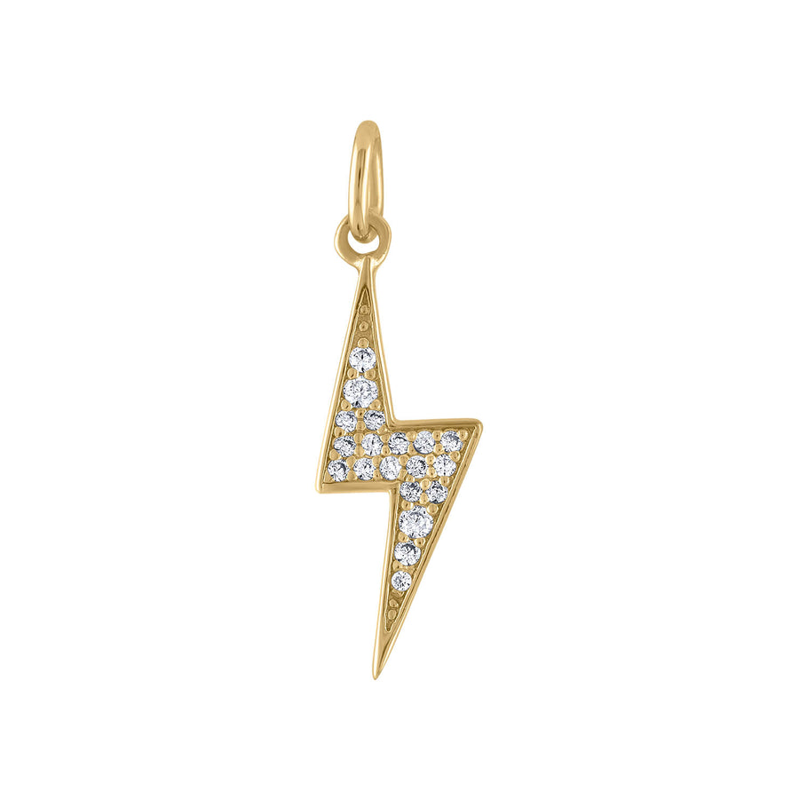 Pave Lightning Charm in Gold Vermeil at Maison Miru Jewelry @maisonmiru