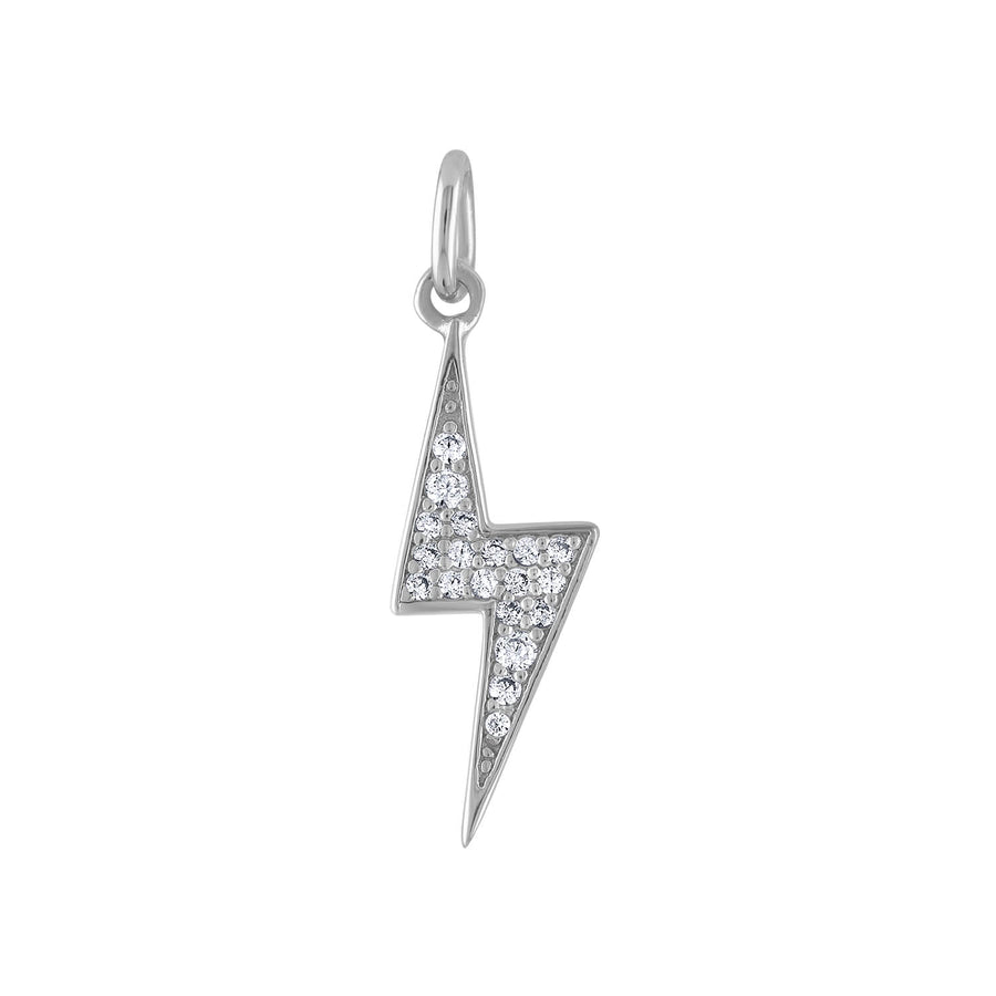 Pave Lightning Charm in Sterling Silver at Maison Miru Jewelry @maisonmiru