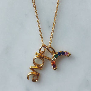 Love Charm in Gold Vermeil on Necklace