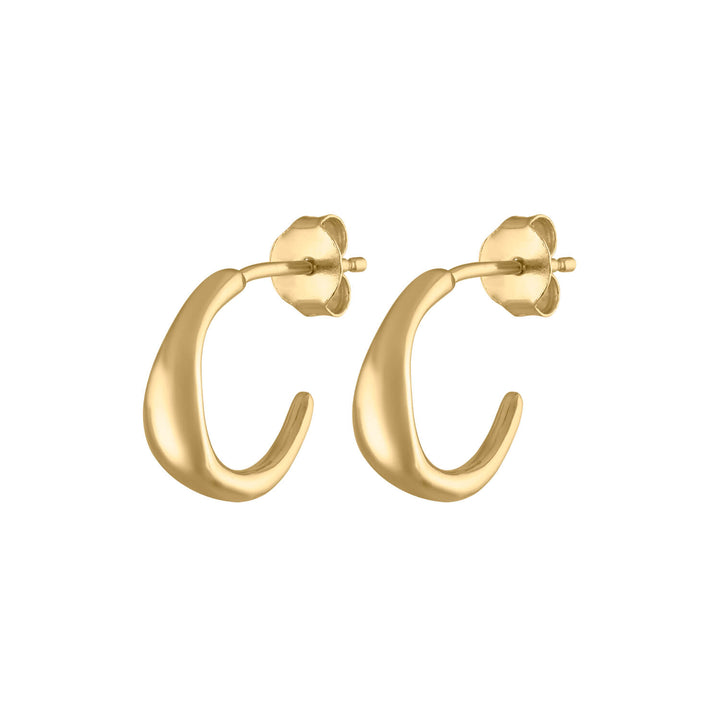 Luna Hoop Earrings in Gold Vermeil at Maison Miru Jewelry @maisonmiru