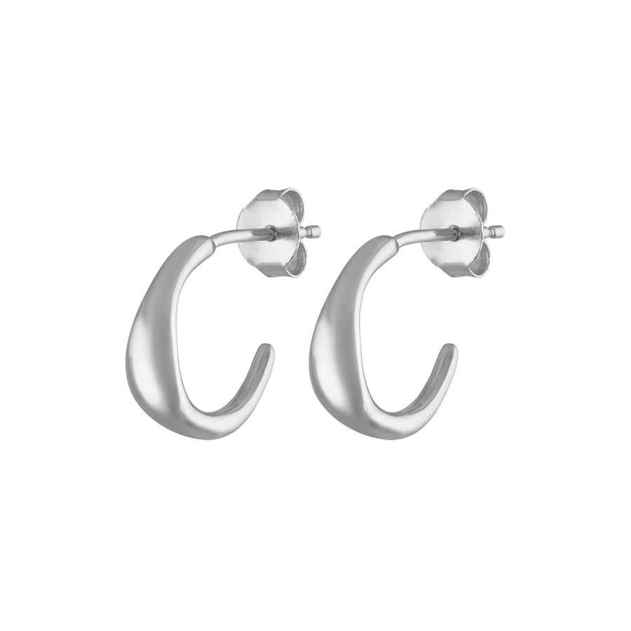 Luna Hoop Earrings in Sterling Silver at Maison Miru Jewelry @maisonmiru