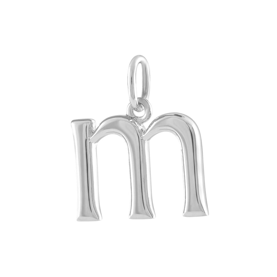 """M"" Charm in Sterling Silver"