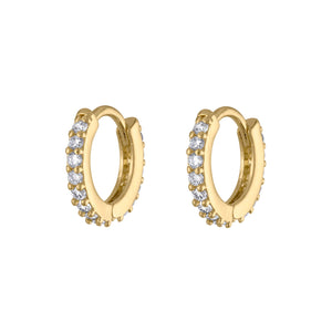 Mini Eternity Hoop Earrings at Maison Miru Jewelry @maisonmiru