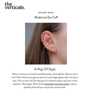 Modernist Ear Cuff As Seen on The Verticale