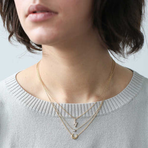 Zelda Necklace in Gold on model