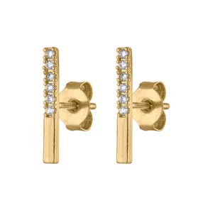 Pave Bar Studs at Maison Miru Jewelry @maisonmiru
