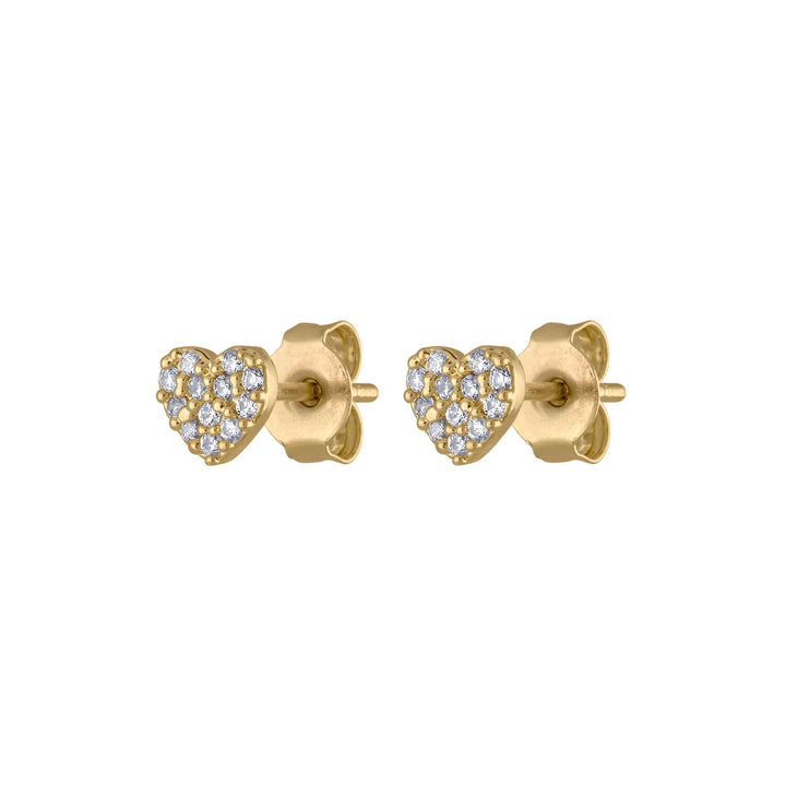 Pave Heart Studs at Maison Miru Jewelry @maisonmiru