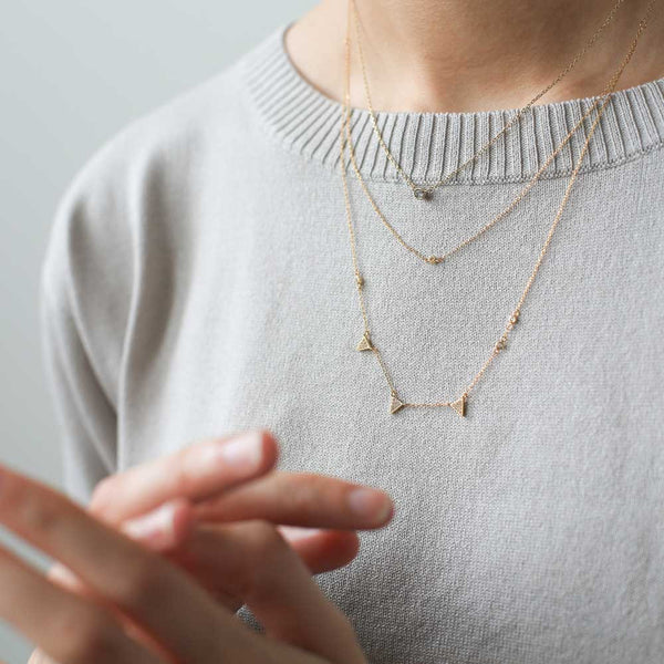 Zelda Necklace - Our delicate and dainty crystal solitaire gold necklace - Maison Miru Jewelry (@maisonmiru)