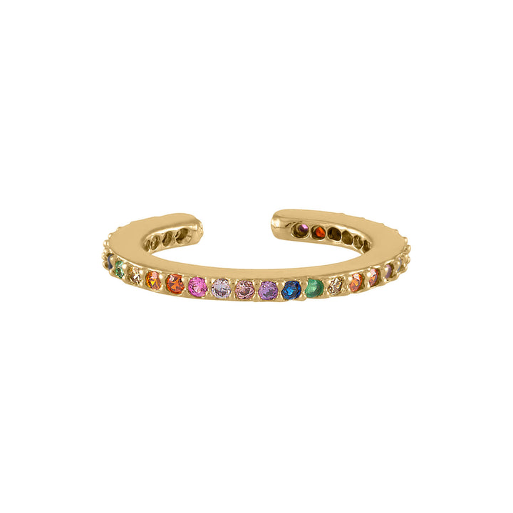Rainbow Eternity Ear Cuff at Maison Miru Jewelry @maisonmiru